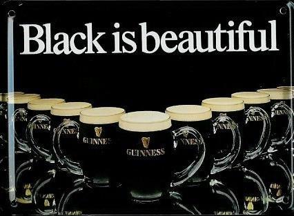 Black Metal, Mini - (Guinness Mini-Blechschild Blechpostkarte - Black is beautiful - 8x11cm Nostalgieschild Retro Schild Metal tin sign)