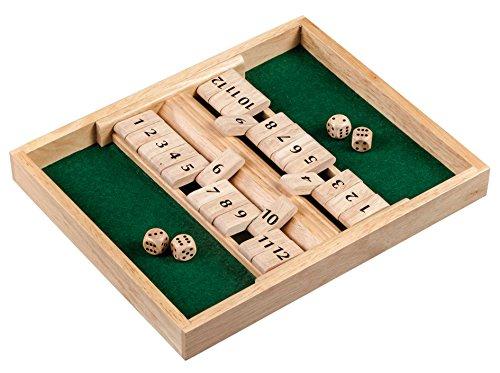 Philos 3282 - Shut The Box, 12er für 1-2 Personen, Würfelspiel, Holz (Würfel-box-spiel)