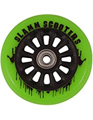 Rueda Y Ejes Slamm Pro Scooter Nailon Core - Verde