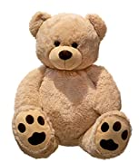 Giant Teddy Bear coccolo XXL 100 cm di altezza peluche vellutato peluche morbido - per amore