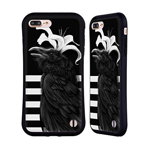 Ufficiale Giulio Rossi Uccello 2 Collezione Animali Case Ibrida per Apple iPhone 7 / iPhone 8 Corvo