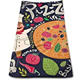 vintage cap Cartoon Pizza Vegetables Kitchen Towels - Dish Cloth - Machine Washable Cotton Kitchen Dishcloths,Dish Towel & Tea Towels for Drying,Cleaning,Cooking,Baking (12 X 27.5 Inch)