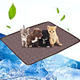 Volwco Dog Cooling Mat Pad, Pet Self Cooling Bed Mat Keep Cool Summer Ice Silk Mattress for Dogs Pets Cats Puppy, Perfect for Kennels, Pet Beds, Small 20