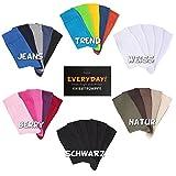 5paia di calze Footstar Calze al ginocchio unisex, disponibili in varie misure (35-50) e colori di tendenza, qualità Celodoro nero nero