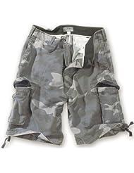 Surplus - Pantalones cortos, diseño de camuflaje, color gris