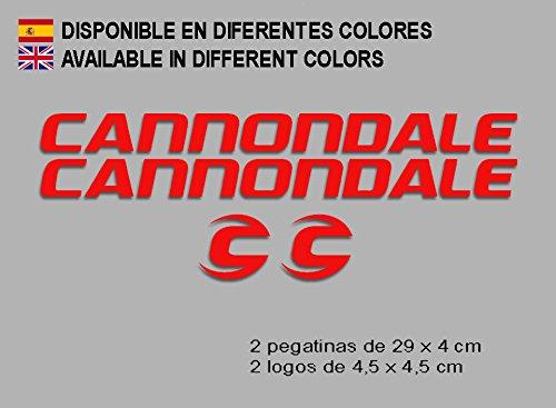 Ecoshirt OJ-SFS7-569G Aufkleber Cannondale F118 Vinyl Adesivi Decal Aufkleber Polyurethan(XL), MTB Stickers Bike, rot -