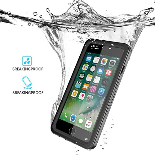 iPhone 7 Plus / iPhone 8 Plus Impermeabile Custodia, FugouSell Ultra Sottile TPU Installazione Facile IP68 Difensore Protettore Impermeabile Cover 360 Grado Full Body Protettiva Caso Water Resistente  Nero