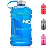 Water Jug - Trinkflasche - Sport-Wasserflasche - Trainingsflasche - Water Gallon - XXL Wasser-Kanister - Gym Bottle - 2.2 Liter - BPA & DEHP frei - perfekt für Crossfit, Fitness, Bodybuilding, MMA & Krafttraining von NOQUIT blau