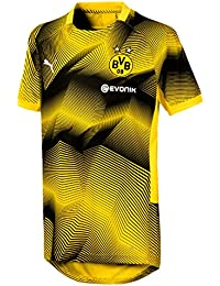 Puma BVB Stadium Graphic Jersey Jr with Sponsor Logo Maillot d82bcf01ea503