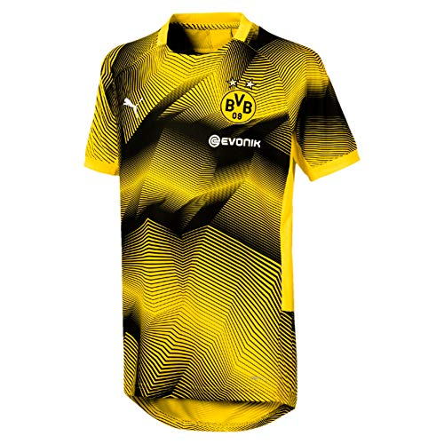 Puma Kinder BVB Stadium Graphic Jersey Jr with Sponsor Logo Trikot, Cyber Yellow, 152 (Trikot Graphic)