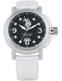 Reloj U.S. Polo Assn. Attitude usp4208wh de piel blanco clásico