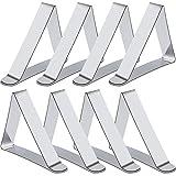 Rovtop 8 Stück Tischdeckenklammer Tischtuchklammer zum der Tischdecke befestigen,aus Edelstahl