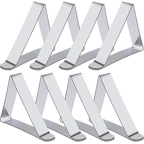 Rovtop 8 Stück Tischdeckenklammer Tischtuchklammer zum der Tischdecke befestigen,aus Edelstahl Test