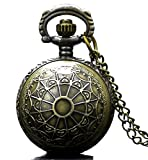 LMP3Creation Bronze Classic Vintage Retro Antique Ball Spider Cobwebs Carving Pocket Watch For Man & Necklace for Women (POW-061) best price on Amazon @ Rs. 599