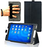 Navitech Black Faux Leather Case Cover With Stand For The EE Eagle 4G Tablet 8