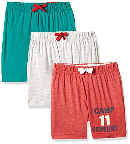 Cloth Theory Boys' Shorts (Pack of 3)(ICWN BSHRT 014_Multicolour_9 - 10 years)