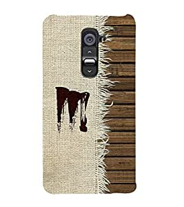 FIOBS alphabet M chinese font wood theme realistic art cloth texture simple design stick pattern Designer Back Case Cover for LG G2 :: LG G2 Dual D800 D802 D801 D802TA D803 VS980 LS980