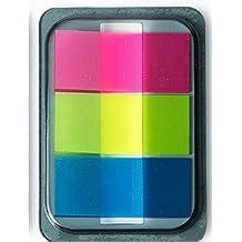 Cosanter 2PCS Marcadores Adhesivos,Pack de 3 Tab Marker,Transparente 44 x 20 MM 60 Hojas Multicolor
