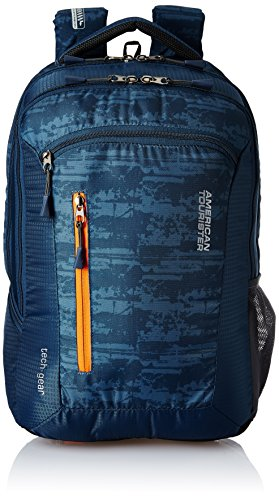 American Tourister Polyester 28 Ltrs Blue Laptop Backpack (AMT TECH GEAR LAPTOP BP 03-BLU)