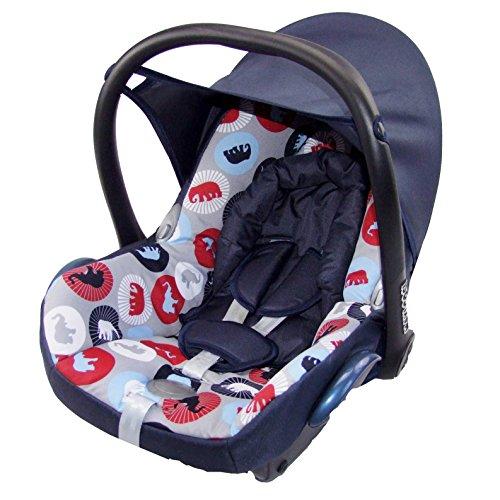 Babys-Dreams Ersatzbezug für Maxi-Cosi CabrioFix 6 tlg. MARINE + ELEPHANTEN *NEU* Bezug für Babyschale Sommerbezug Cabrio Fix