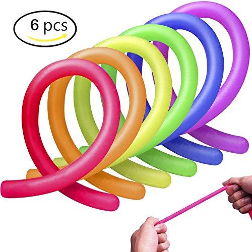 Lomire Zappeln Sinnesspielwaren für Autismus, Stress Angst Relief Stretchy String Spielzeug Geschenk für Erwachsene Männer oder Frauen, Jungen und Mädchen Kinder mit OCD, ADD, Geige Spielzeug