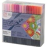 Kuretake ZIG Art & Graphic Twin set of 80 colors