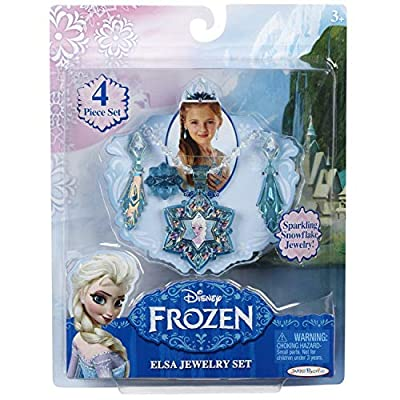 Disney - Frozen Movie Elsa Little Girls Jewelery Anna Snowflake Flower Necklace Earrings Ring for Girl Kids Jewellery Sets for Girls