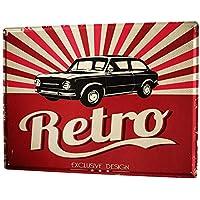 Blechschild XXL Retro  Pizza