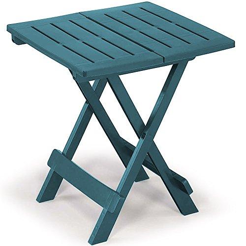 Table en plastique Adige – 45 cm x 43 cm x 50 cm Différents coloris. Vert