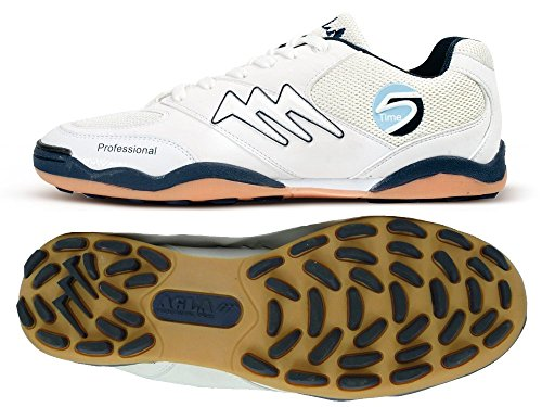 AGLA PROFESSIONAL TIME SLIM OUTDOOR white/blue scarpe calcetto calcio 5 futsal (EUR 38)