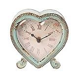 Best Heart To Heart Garden Decors - Sass & Belle Boudoir Heart Clock, Duck Egg/Pink Review
