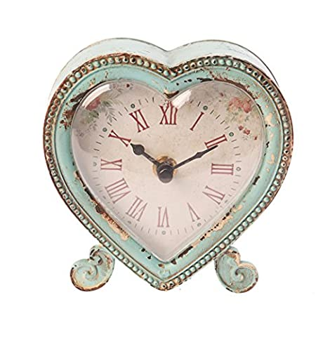 Sass & Belle Boudoir Heart Clock, Duck Egg/