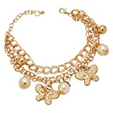GemRoute Golden Butterfly and Pearl Mult...