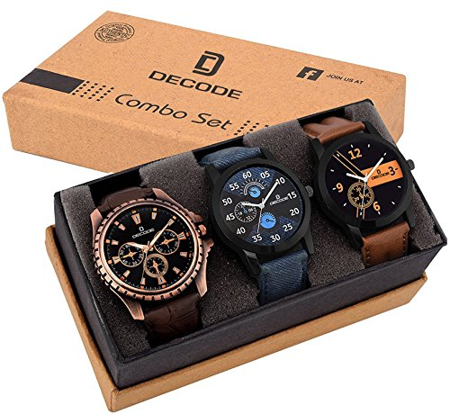 Decode Combo of 3 Analogue Multicolor Dial Mens and Boys Watches-Combo of...