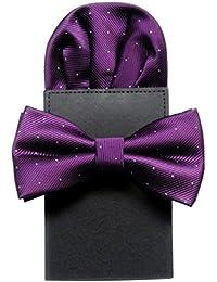 NiSeng Corbata & Pañuelo Sólido Color Dia del Padre Elegante Pajaritas Con Pañuelo Trabajo/Negocios/Fiesta Corbatas Pajarita para Hombres