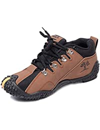 ALEX Footland Synthetics Leather Sport Shoes, Brown