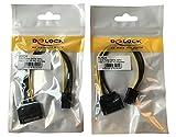 DeLock SATA 15pin -> 6pin PCI Express 0.21m (2er Pack)