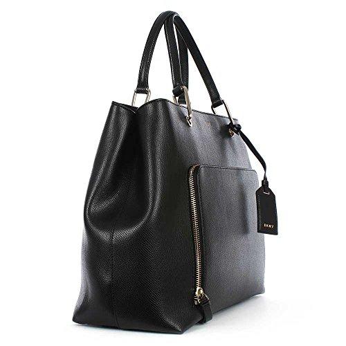 DKNY Sac De Grande Sacoche En Cuir Noir Bryant Black Leather