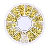 Isuper Schönheit 200 Konteo / 3D Pack Mini Nail Art Nail Supplies Stud Stickers Glitter Metall mit Charme Mode DIY Nägel Dekoration Schönheit Serien hohl