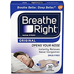 Breathe Right, Nasal Strips, Original Tan, 30 Large Strips