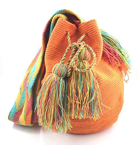 Wayuu Mochila, Bolsos Colombianos Artesanales Lisos, tanto para mujer como para hombre....