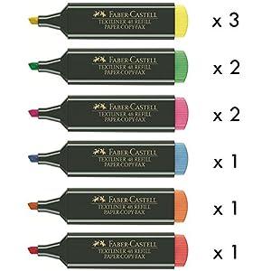 Marcadores Fluorescentes FABER-CASTELL Textliner 48, Pack x10 Surtidos