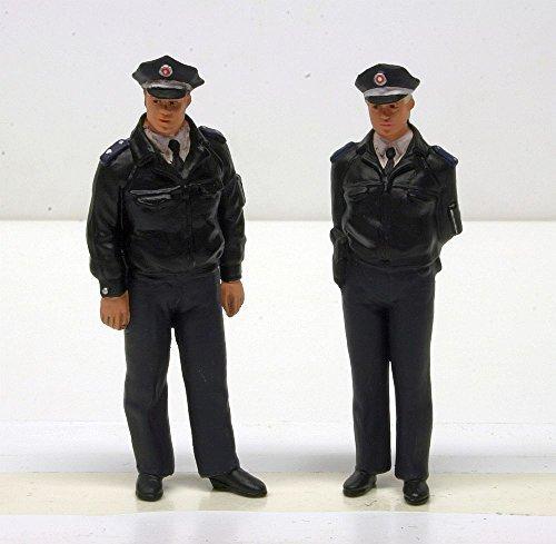Preiser 44909 FRG Police Officers Blue Uniform (2) by Preiser