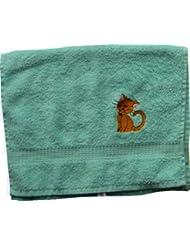 Handtuch aus Frottee mit Bestickung Katze