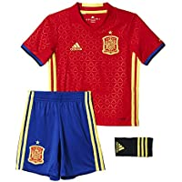 Adidas UEFA Euro 2016 Spain Home Set, Niños, Rojo Escarlata/Azul / Amarillo Brillante, 164