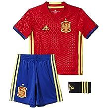 adidas UEFA Euro 2016 Spain Home Set, Niños, Rojo Escarlata/Azul/Amarillo