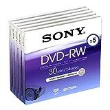 Sony DMW 30 DVD-RW für DVD-Camcorder 30 Minuten 5er-Pack