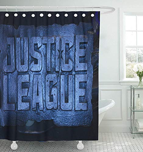Luancrop Duschvorhang wasserdicht Bangkok Thailand 11. November Standee of Justice League Anzeige im Theater Home Decor Polyester Stoff Verstellbarer Haken