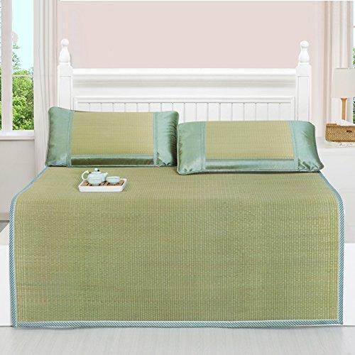 LIANGJUN Bett Pad Sommerschlafmatte Pflanzenfasern Matratze Erfrischend Atmungsaktiv Verschleißfest, 3 Größen Verfügbar, 2 Arten (Farbe : with 2 Pillowcases, größe : 135X195cm)