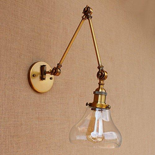 YJNB Loft Vintage Lampada Da Parete Swing Di Vetro Lungo